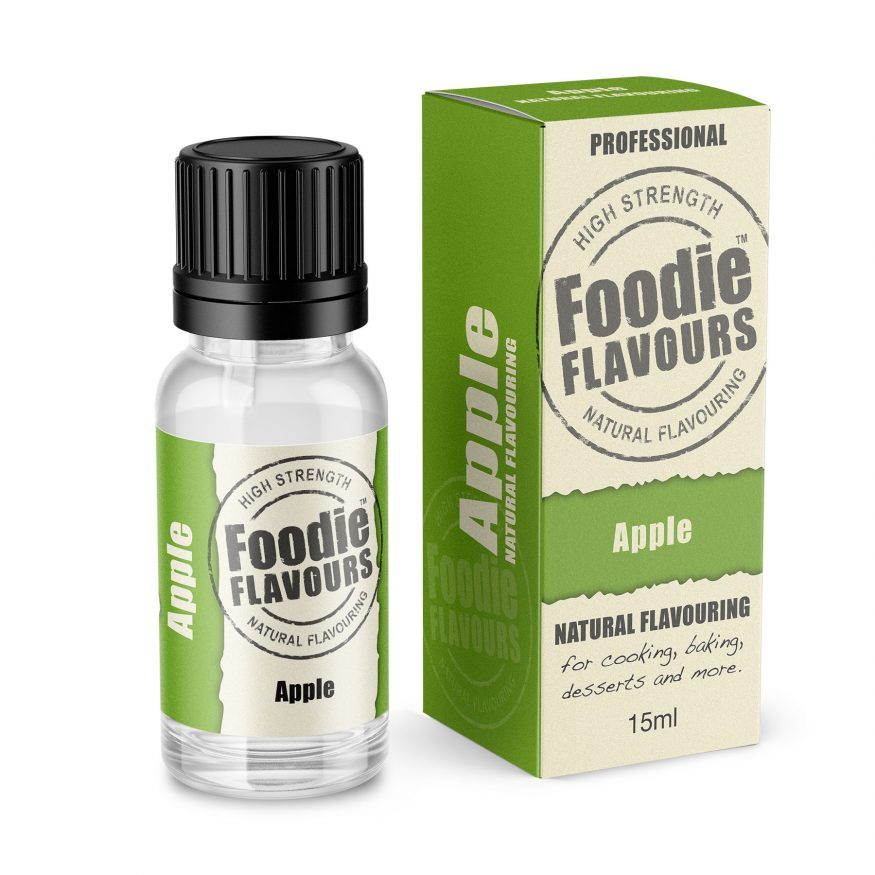 apple natural flavouring bottle and box