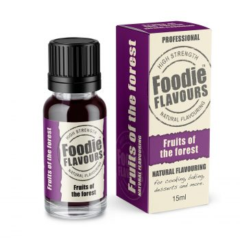 Fruits of the Forest natural flavouring bottle and box