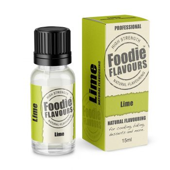 Lime Oil Natural Flavouring bottle and box