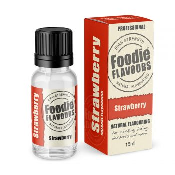 strawberry natural flavouring bottle and box