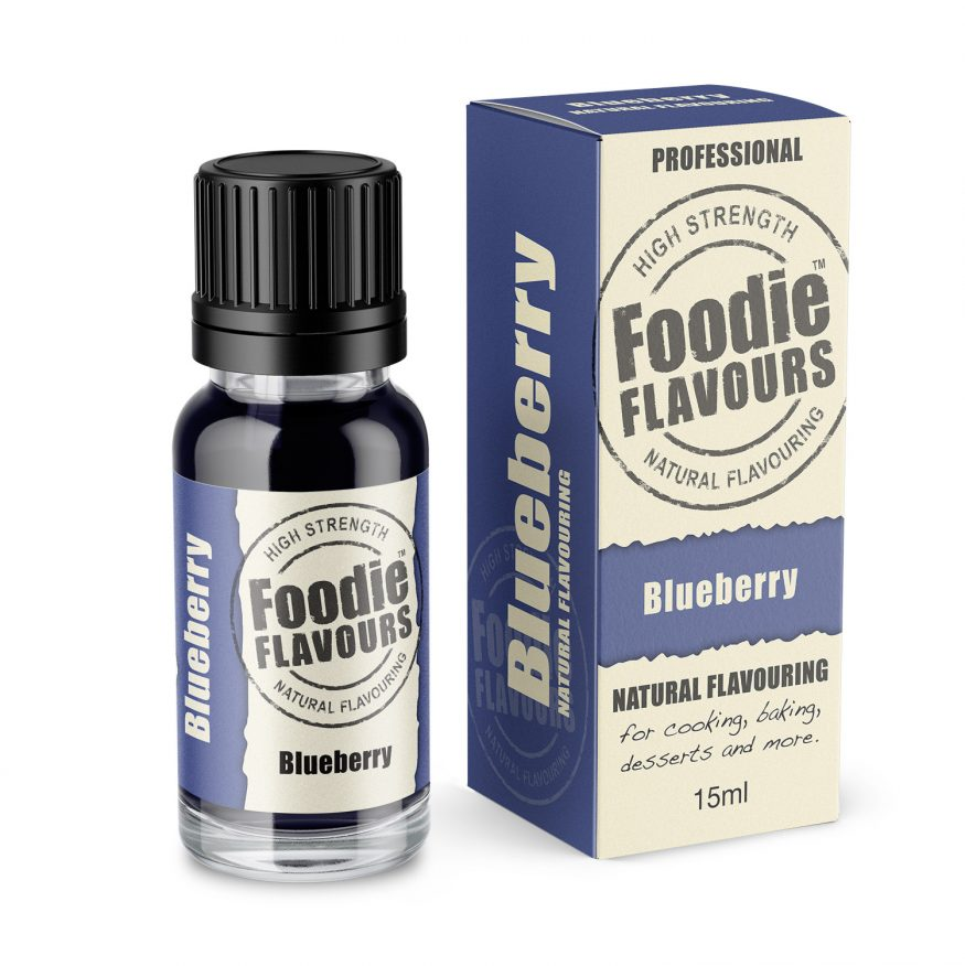 Natural Blueberry Flavouring bottle and box