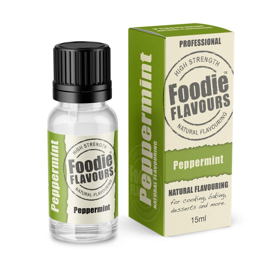 Peppermint Natural Flavouring bottle and box