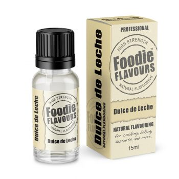 Dulce de Leche Natural Flavouring bottle and box