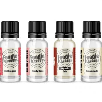 foodie flavours retro set natural flavouring