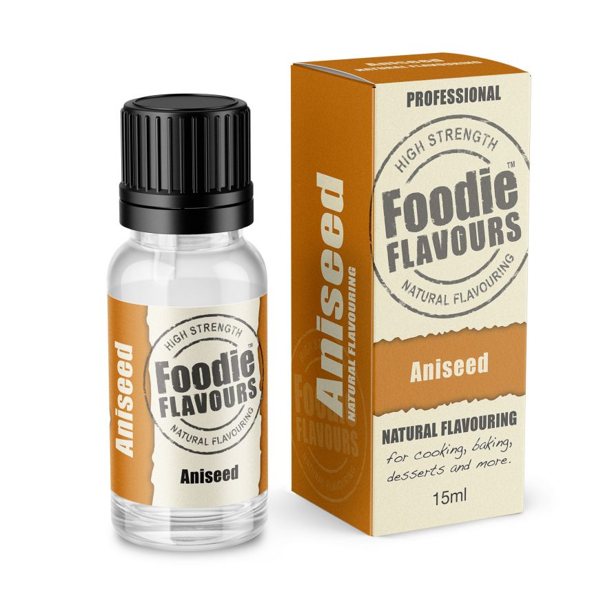 aniseed natural flavouring bottle and box