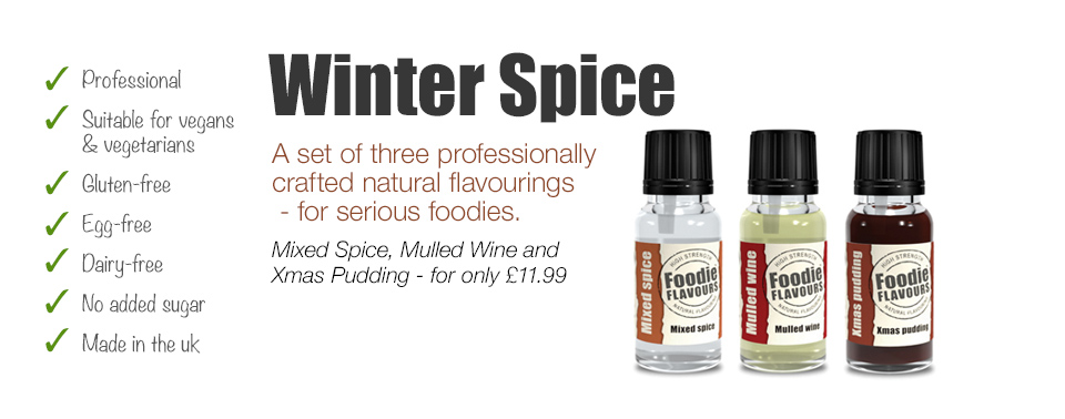 winter spice set of flavours