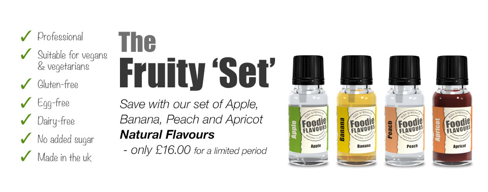 fruity set of high strength natural flavourings