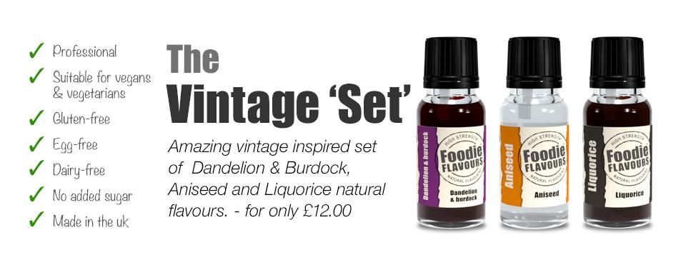 Vintage natural flavouring set