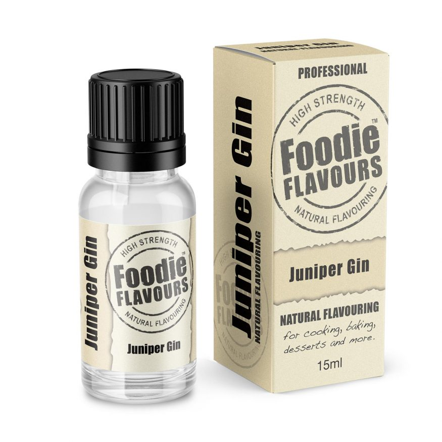 Juniper Gin Natural Flavouring bottle and box
