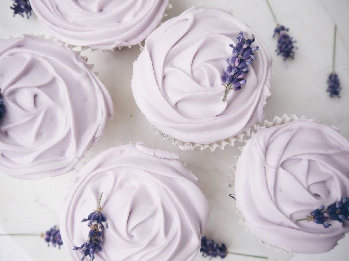 Lavender & White Chocolate Cupcakes