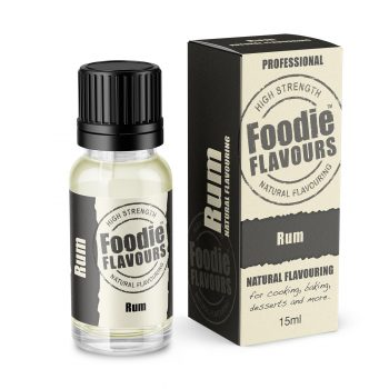 Rum Natural Flavouring bottle and box