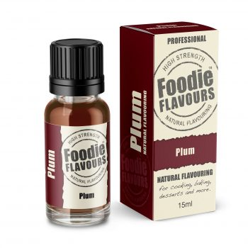 Plum Natural Flavouring bottle and box