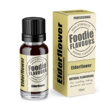 Elderflower Natural Flavouring bottle and box