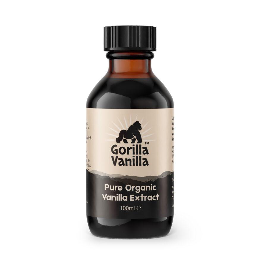 Gorilla Vanilla - Organic Vanilla Extract - 100ml Bottle