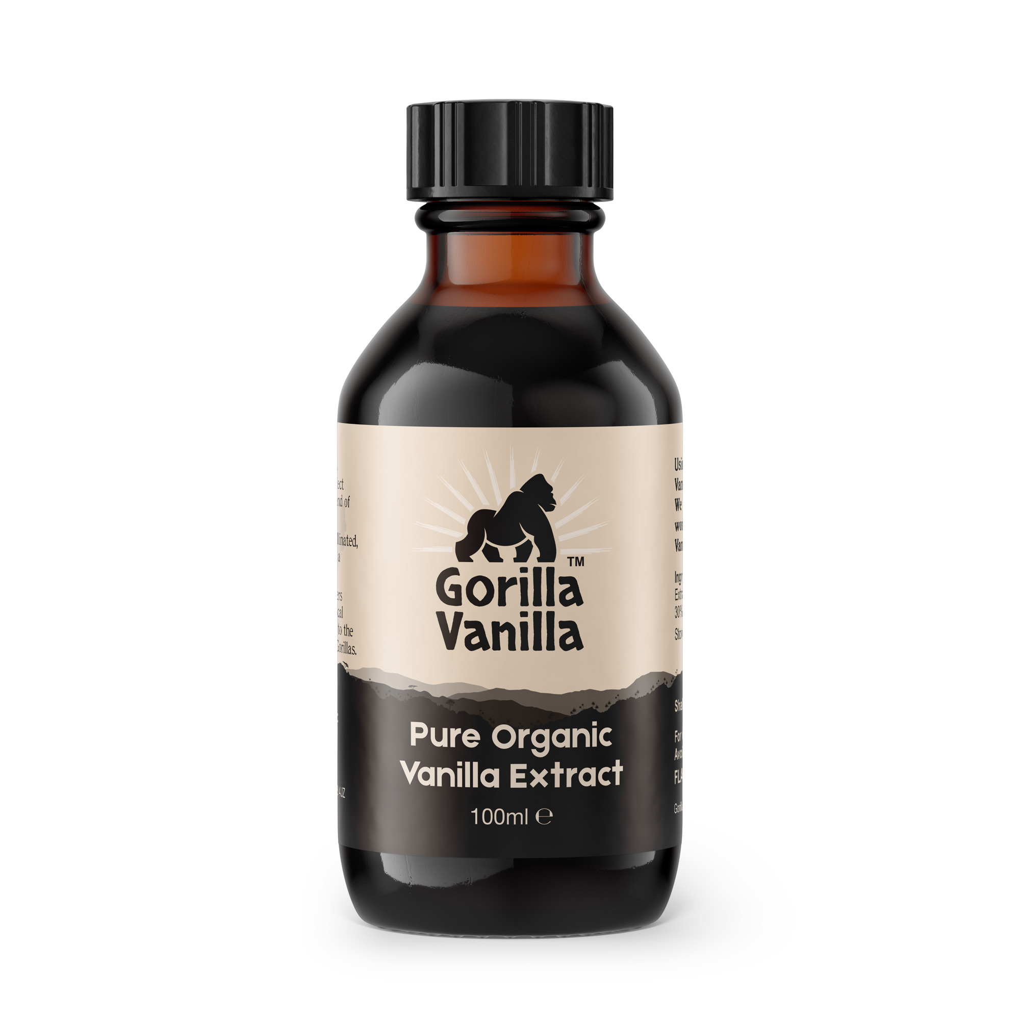 Gorilla Vanilla - Organic Vanilla Extract - 100ml Bottle