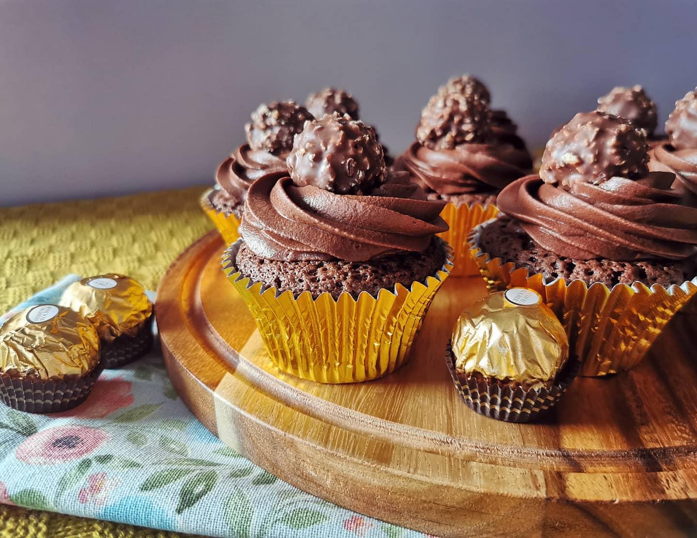 Ferrero Rocher Chocolate Cupcakes