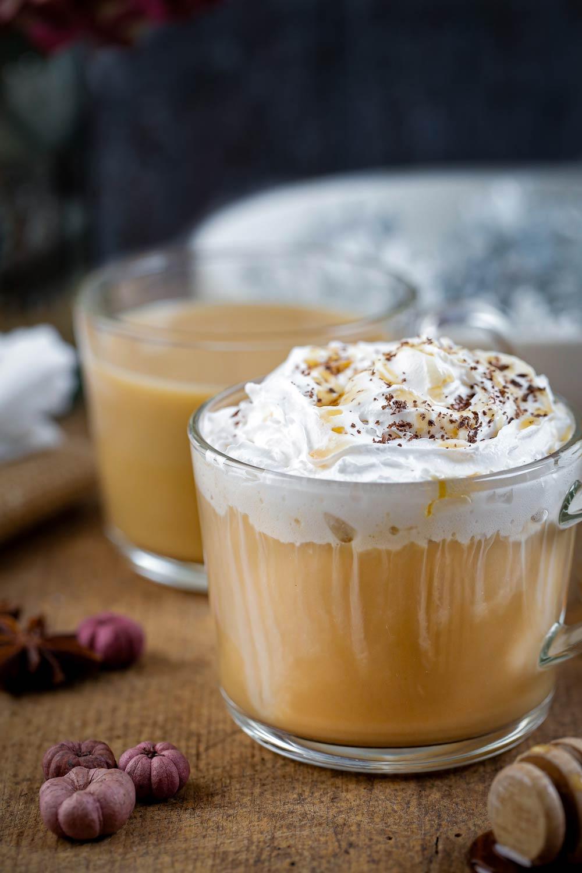 Pumpkin Spice flavoured latte