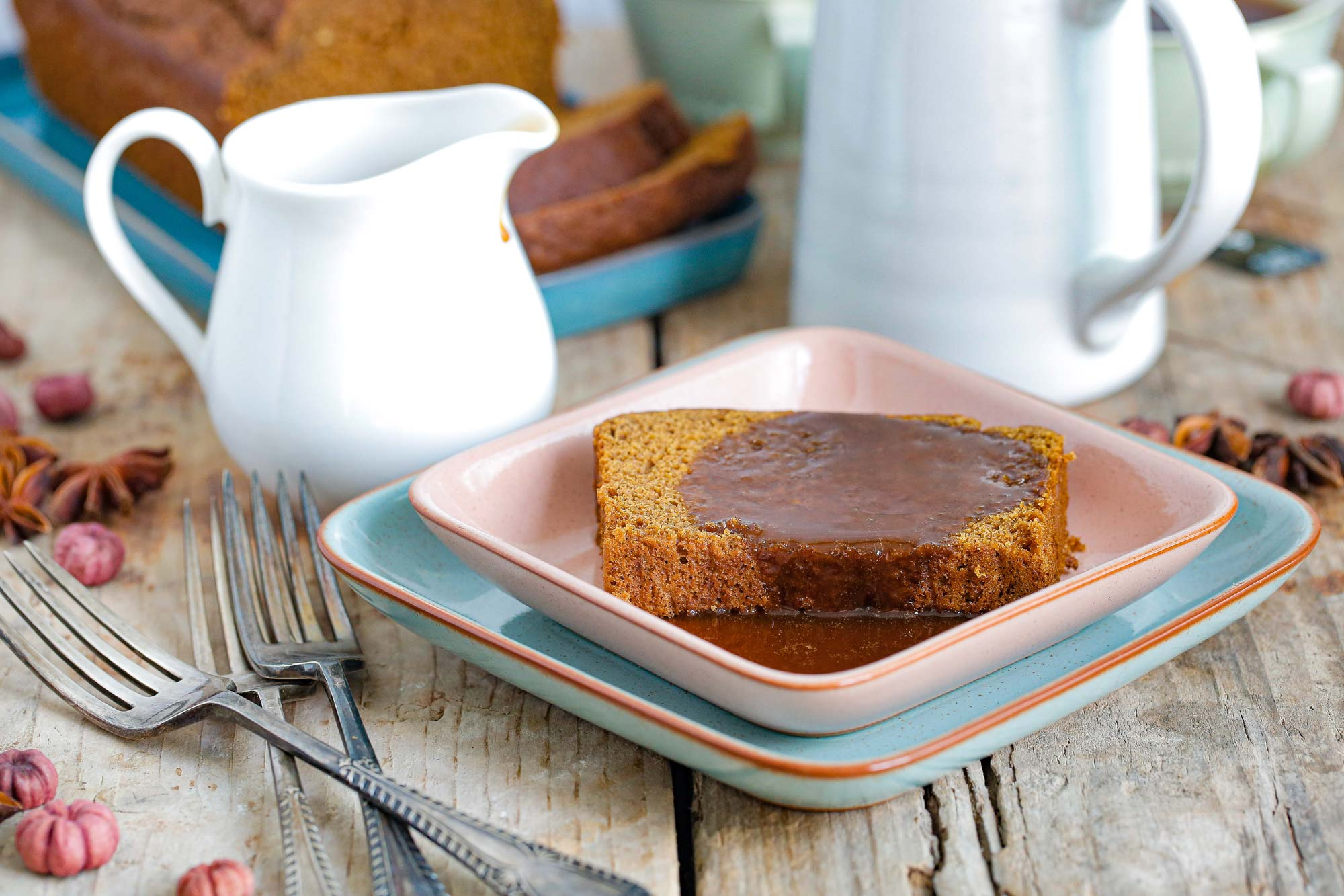 Jamaican Ginger Sticky Toffee Pudding Cake