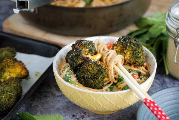 coconut flavoured Thai curry noodles